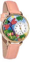 Whimsical Watches Women's G1210007 Dragonflies Pink Leather Watch