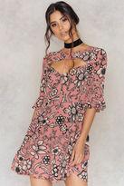 For Love & Lemons Ayla Laced-Up Dress