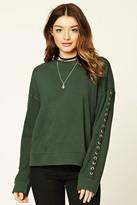 Forever 21 FOREVER 21+ Grommet-Sleeve Sweatshirt