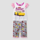 Cars Toddler Girls' Pajama Set - White