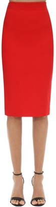 Alexander McQueen Leaf Crepe Pencil Skirt