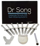 Dr Song Home Teeth Whitening Kit, 8 XL Syringe with Light, Tray and Gel Applicator