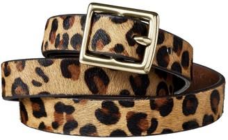 A New Day Woen's Leopard Print Calf Hair Belt