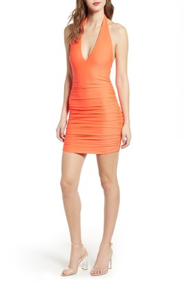 Tiger Mist Amazon Halter Mini Dress