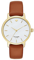 Kate Spade Metro Mother-of-Pearl Analog Leather-Strap Watch