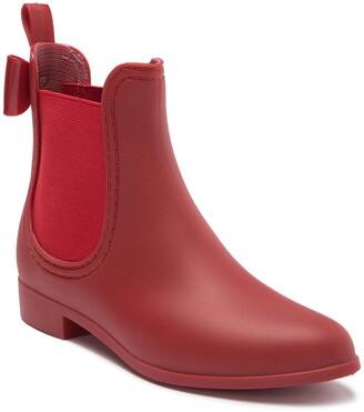 Catherine Malandrino Briellie Bow Chelsea Rain Boot