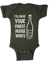 "Fayebeline Boutique Quality Baby Onesie ""I'll Have Your Finest House White"" Funny Baby Gift"