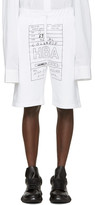 Hood by Air White Jock Box Shorts
