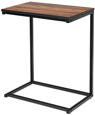 Overstock Gymax Sofa Side End Table C Shaped Table Laptop Holder End Stand Desk - See Details