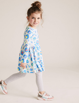 Marks and Spencer Pure Cotton Leopard Print Dress (2-7 Yrs)