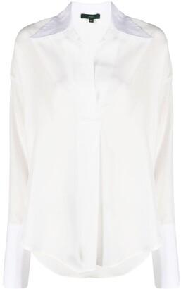Jejia Pointed-Collar Silk Shirt