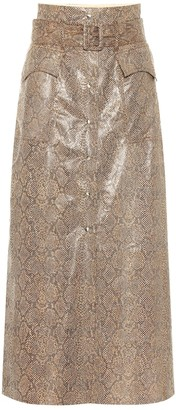 Nanushka Aarohi snake-effect faux leather skirt