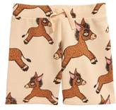 Mini Rodini Donkey Print Organic Cotton Sweat Shorts