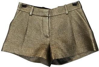 Diane von Furstenberg Metallic Polyester Shorts