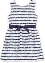 Maison Jules Lace Striped Dress, Toddler, Little Girls (2T-6X) & Big Girls (7-16), Only at Macy's