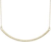 Tiara 14K Yellow Gold Diamond-Cut Curved Bar Necklace