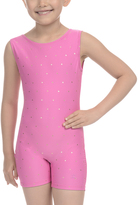 Danskin Twinkle Pink Dot Biketard - Girls
