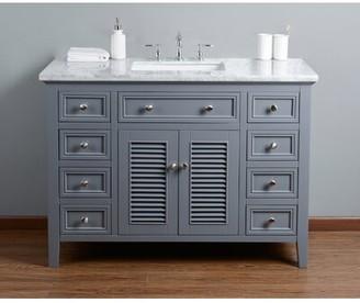 "Beachcrest Home Richards 48"" Single Bathroom Vanity Set Base Finish: Gray"