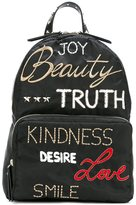 RED Valentino embroidered words backpack