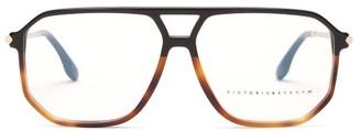 Victoria Beckham Aviator Tortoiseshell-acetate Glasses - Black