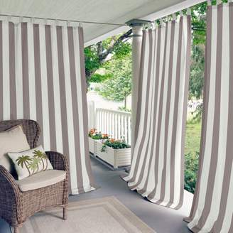 "Highland Stripe Indoor/Outdoor Curtain Panel, 50"" x 95"""