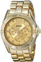 XOXO Women's XO5655 Gold-Tone Bracelet Analog Watch