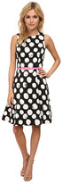 Eliza J Sleeveless Fit and Flare with Pleated Skirt Belt and Triangle Back