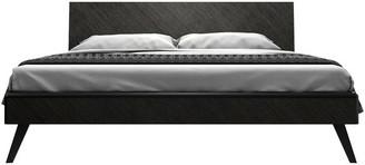 Modloft Rivington Bed, Gray Oak, King