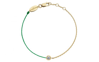 Redline 18ct Yellow Gold Pure Chain And Thread Bracelet (emerald)