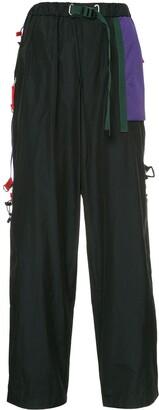 Kolor Contrast Mesh Pocket Track Pants