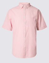 M&s Collection Pure Cotton Striped Shirt
