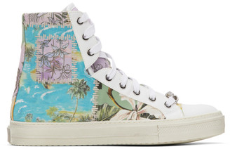 Amiri Multicolor Hawaiian Reconstructed Sunset High-Top Sneakers