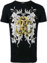 Roberto Cavalli Gold print T-shirt - men - Cotton - S