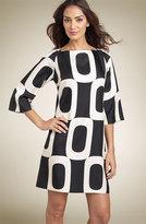 Print Silk Twill Shift Dress