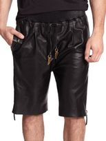 G Star Leather Shorts