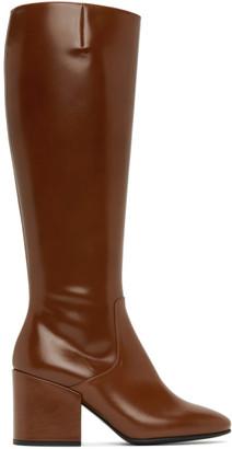 Dries Van Noten Tan Leather Tall Boots