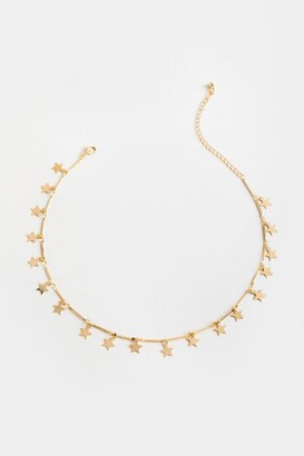 francesca's Deidra Star Choker - Gold