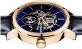 Ingersoll Ingersoll 1892 The Smith Blue and Rose Gold Detail Skeleton Automatic Dial Blue Leather Strap Mens Watch