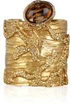 Yves Saint Laurent Arty gold-plated glass cuff