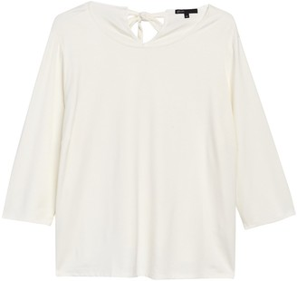 Gibson Tie Back Knit Top (Plus Size)