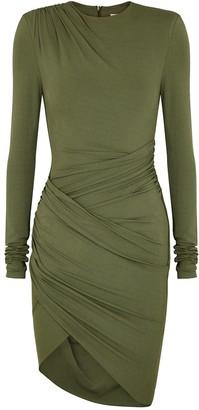 Alexandre Vauthier Army green stretch-jersey mini dress