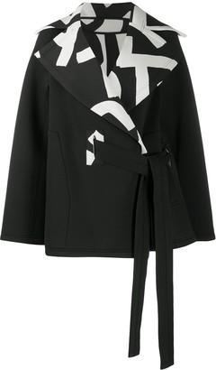 Issey Miyake Contrast Collar Coat
