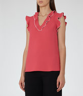 Reiss New Collection Rosa Ruffle-Detail Top