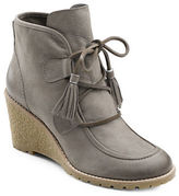 G.H. Bass Teresa Leather Wedge Booties