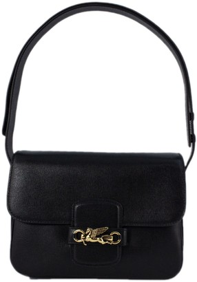 Etro Black Leather Shoulder Bag