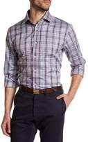 James Tattersall Classic Fit Windowpane Shirt