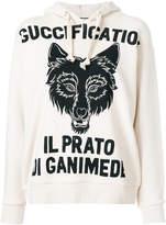 Gucci Il Prato di Ganimede Guccification printed hoodie