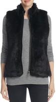 Foxcroft Faux Fur Ribbed Knit Vest