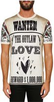 Dolce & Gabbana Cotton T-shirt With western Print