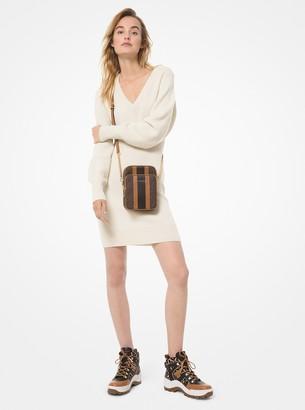 MICHAEL Michael Kors Ribbed Wool-Blend Sweater Dress